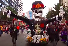 Festival of the Dead in the World of the Living- Giant Calavera in the Parade
